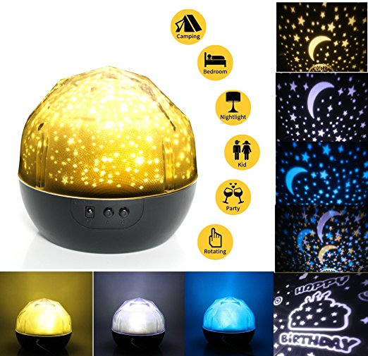 4. Night Light Projector Lamp IMISI Rotation (Black)