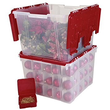 10. IRIS Holiday Wing Lid Organizer Set with 75 Ornament Dividers