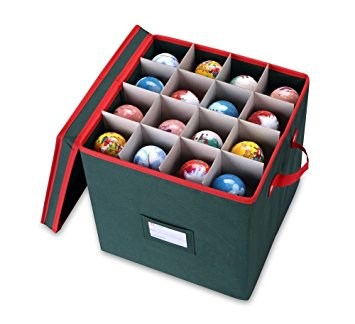 8. Primode Holiday Ornament Storage Box Chest