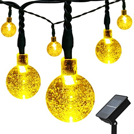 4. easyDecor Solar Globe String Lights