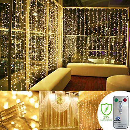 2. Remote Curtain String Led lights