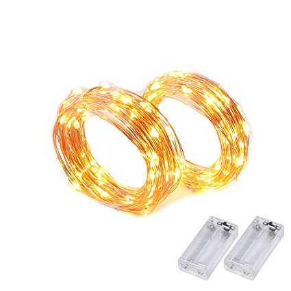 8. 2 Set String Lights Easter Decorations Battery Powered Fairy Lights