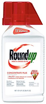 10. Roundup Weed and Grass Killer Concentrate Plus, 36.8-Ounce