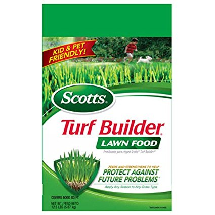 4. Scotts Turf Builder Lawn Food fertilizer