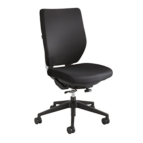 7. Safco Products 7065BL Sol Task Chair (Optional arms sold separately), Black