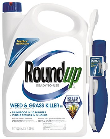 7. Roundup 5200210 Weed and Grass Killer III Ready-to-Use Comfort Wand Sprayer, 1.33-Gallon