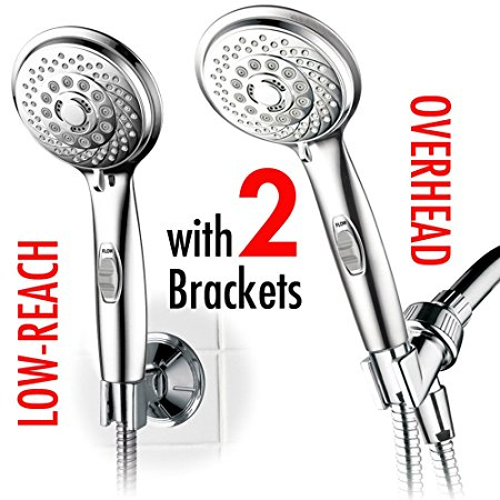 8. HotelSpa 7-setting AquaCare Series Spiral Handheld Shower Head