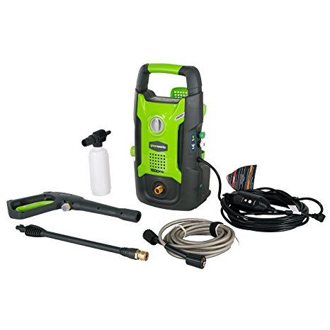 5. GreenWorks GPW1602 13 amp 1600 PSI 1.2 GPM Electric Pressure Washer