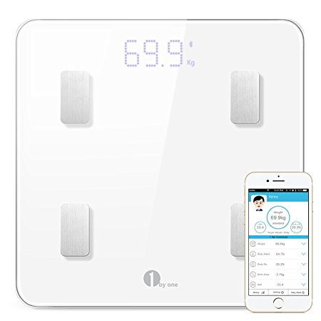 1. 1byone Bluetooth Body Fat Scale
