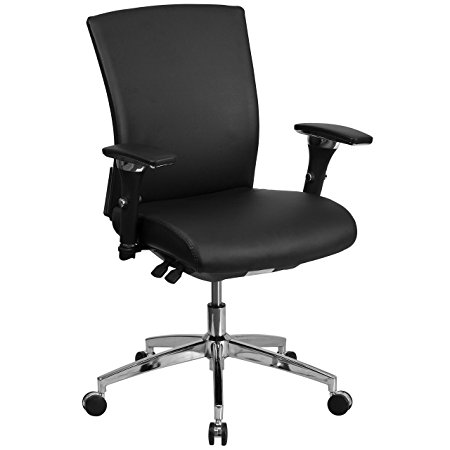 4. Flash Furniture HERCULES Series Leather Multifunction Executive Office Chair