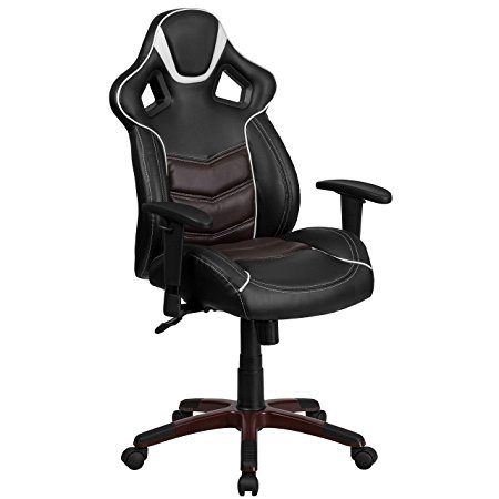 9. Flash Furniture High Back Marrone Eklipsis Brown Executive Gaming-Racing Swivel Chair