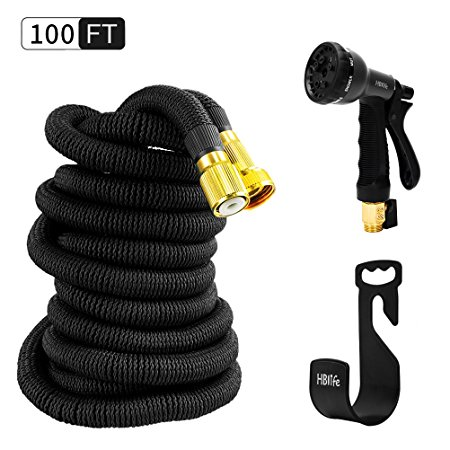 2. HBlife 100 ft Expandable Garden Water Hose
