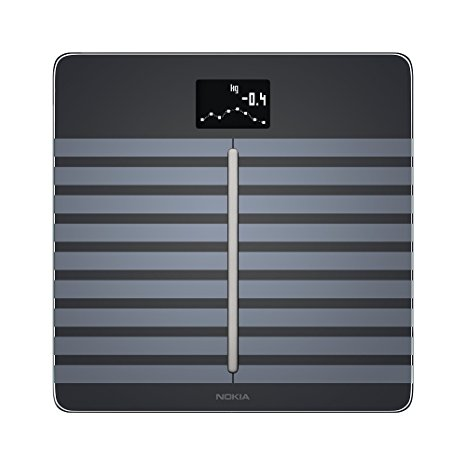 8. Nokia Body Cardio – Heart Health & Body Composition Wi-Fi Scale in black