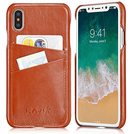 9. KAVAJ iPhone X Case Leather