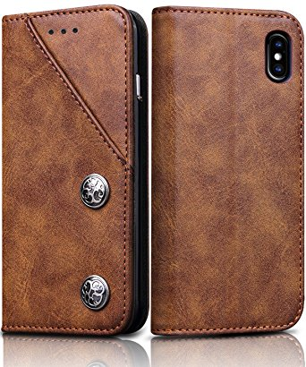 10. FOGEEK Leather iPhone X Case