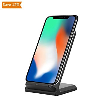 9. FSLabs iPhone 8 X Wireless Desktop Charger Battery Holder Mount Stand Dock (Twilight)