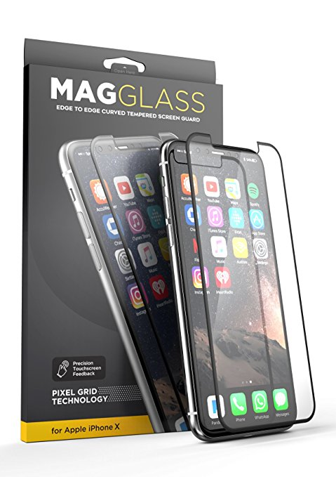 2. (Case compatible) iPhone X-MagGLASS XT90 and Reinforced Screen Guide