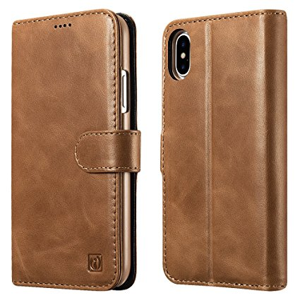 7. Icarercase Genuine Leather Detachable 2 in 1 Case