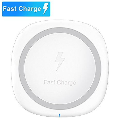 2. Pansonite QI Wireless Charger, Fast Wireless Charging Pad for Samsung S8/S8+/S7/S7 Edge/S6/S6 Edge+/Note 5, Standard Charge for iPhone 8/8+, iPhone X, Nexus 4/5/6/7 and Other Qi-enabled Devices