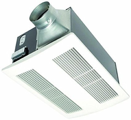 4. Panasonic FV-11VH2 Whisper Warm 110 CFM Ceiling Mounted Fan