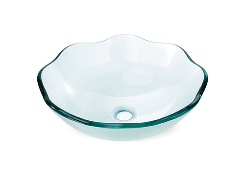 6. Miligore-glass phoenix stone and round bowl/opaque white