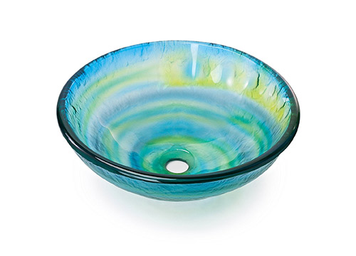 2. Miligore-Glazed multi-color/yellow, blue, green