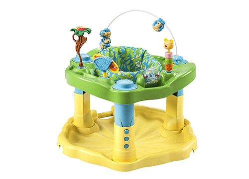 5. Evenflo Exersaucer bounce and learn zoo friends