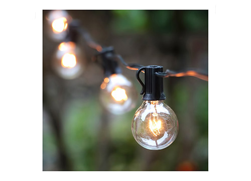 4. 25Ft G40 Globe String Lights with Clear Bulbs