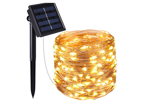 10. AMIR Solar Powered String Lights