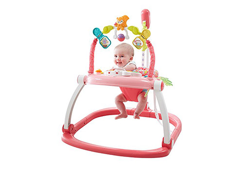 7. Fisher-price floral confetti-space saver jumperoo