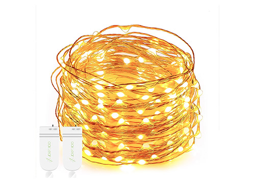 1. Oak Leaf String Lights