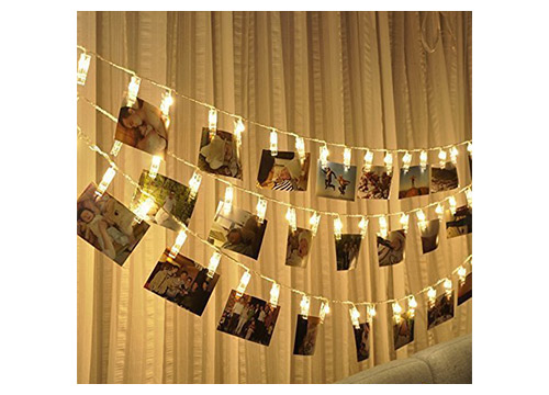 9. LED Photo String Lights