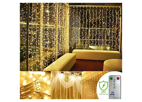 8. Kohree 300 Led Curtain icicle lights
