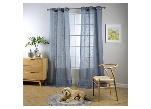 10. Miuco Semi Sheer Curtains Poly Linen
