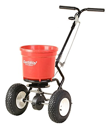 10. Earthway 2150 Commercial 50-Pound Walk-Behind Broadcast Spreader, Garden Seeder, Salt Spreader