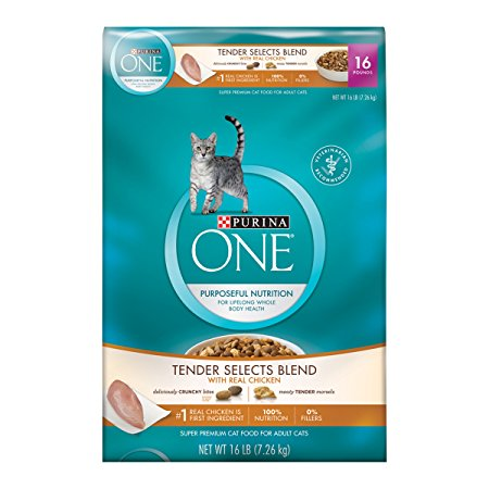 6. Purina ONE Tender Selects Blend With Real Chicken Dry Cat Food
