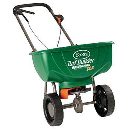 4. Scotts Turf Builder EdgeGuard Deluxe Broadcast Spreader