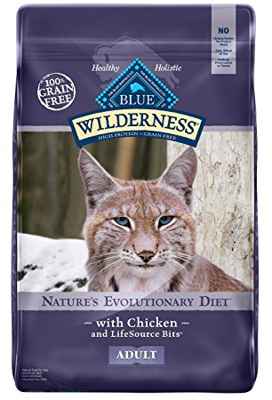 3. BLUE Wilderness High Protein Grain Free Adult Dry Cat Food