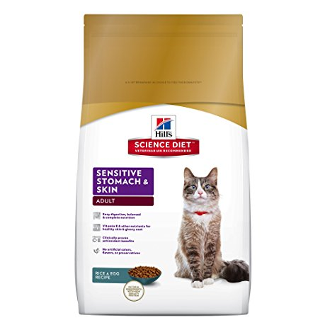9. Hill's Science Diet Sensitive Stomach and Skin Dry Cat Food