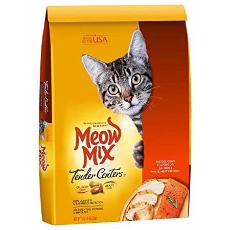 2. Meow Mix Tender Centers Dry Cat Food