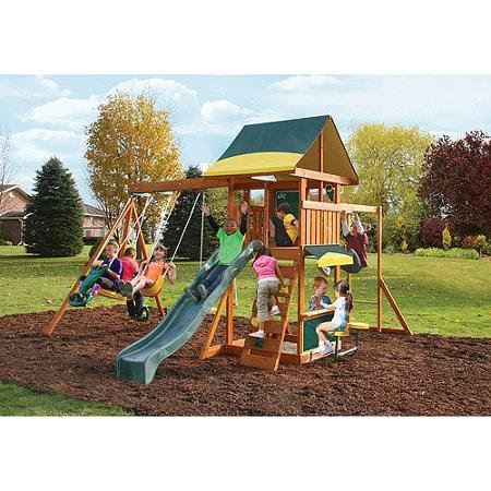 3. Cedar Summit Brookridge Cedar Wooden Play Swing Set