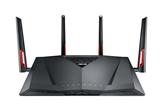 4. ASUS AC3100 WiFi Dual-band Gigabit Wireless Router with 4x4 MU-MIMO,8x Gigabit LAN Ports, AiProtection Network Security and WTFast Game Accelerator,AiMesh Whole Home WiFi System Compatible (RT-AC88U)
