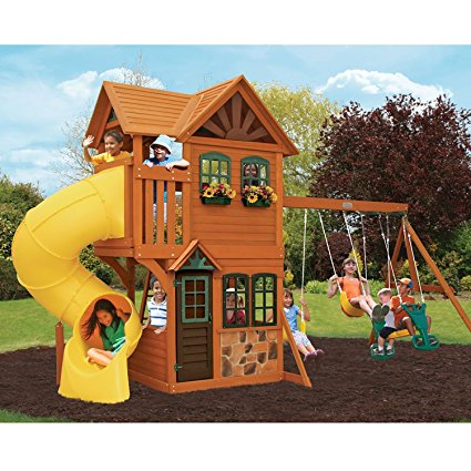 Top 10 Best Wooden Swing Sets And Playsets Of 2018 Dewhitehome Reviews