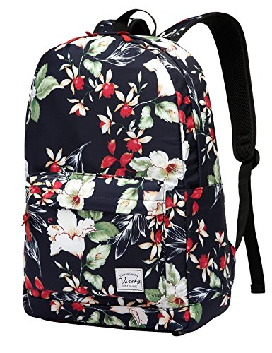 5. Fashion Floral College Student School Backpack by Vaschy
