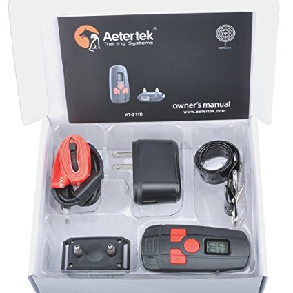 8. Aetertek 300 Yard Water resistant Rechargeable Remote Training Dog Collar with Beep, Vibration and Electric Shock perfect for small dogs