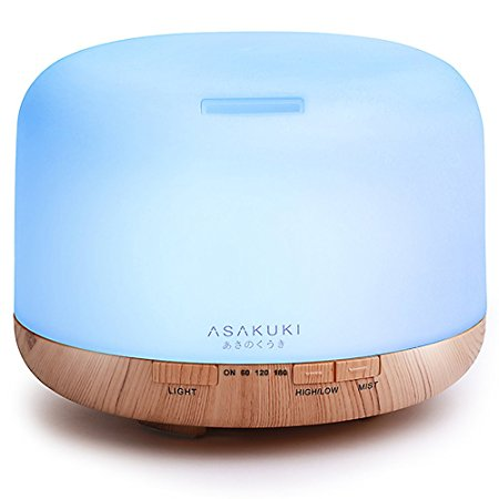9. ASAKUKI 500ml Premium, Essential Oil Diffuser