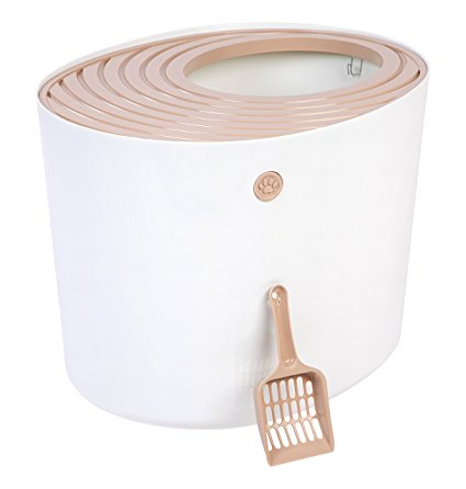 8. IRIS Top Entry Cat Litter Box
