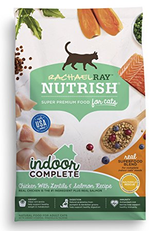 10. Rachael Ray Nutrish Indoor Complete Natural Dry Cat Food