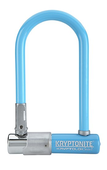9. Kryptonite Kryptolok Series 2 Mini Bicycle U-Lock with Transit FlexFrame Bracket, 3.25 x 7-inch