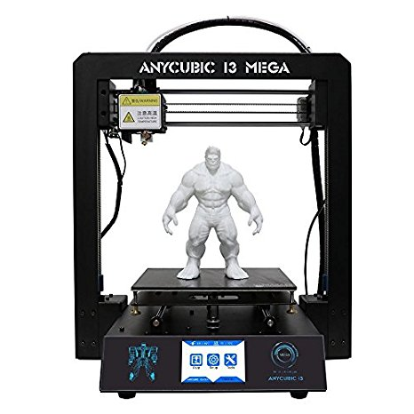 9. Anycubic Upgraded Full Metal i3 Mega 3D Printer with Ultrabase Heatbed and 3.5 Inch Touch Screen